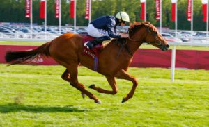 Crystal Zvezda pulling away from her rivals at Newbury for an emphatic victory